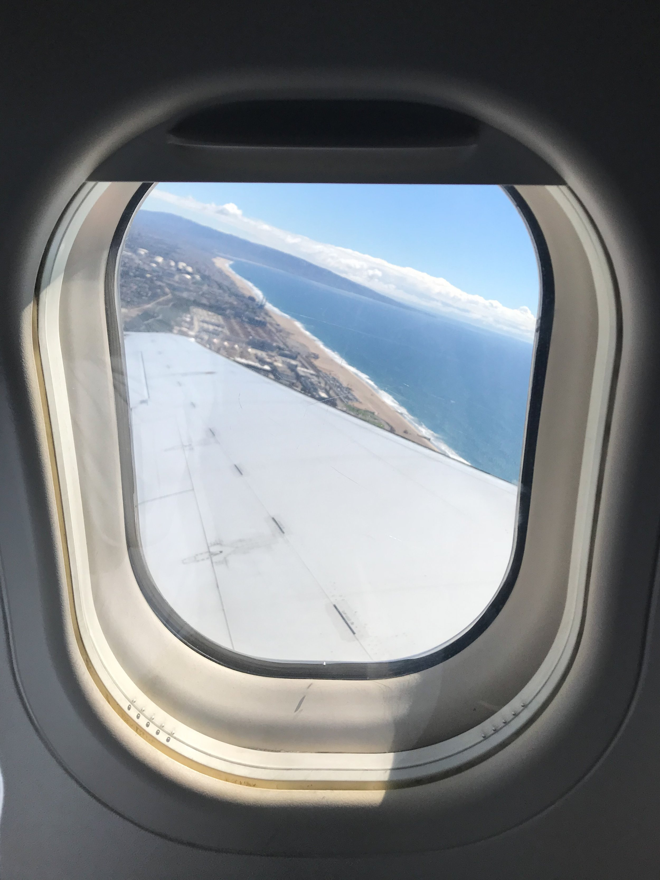 Climbing out of LAX.