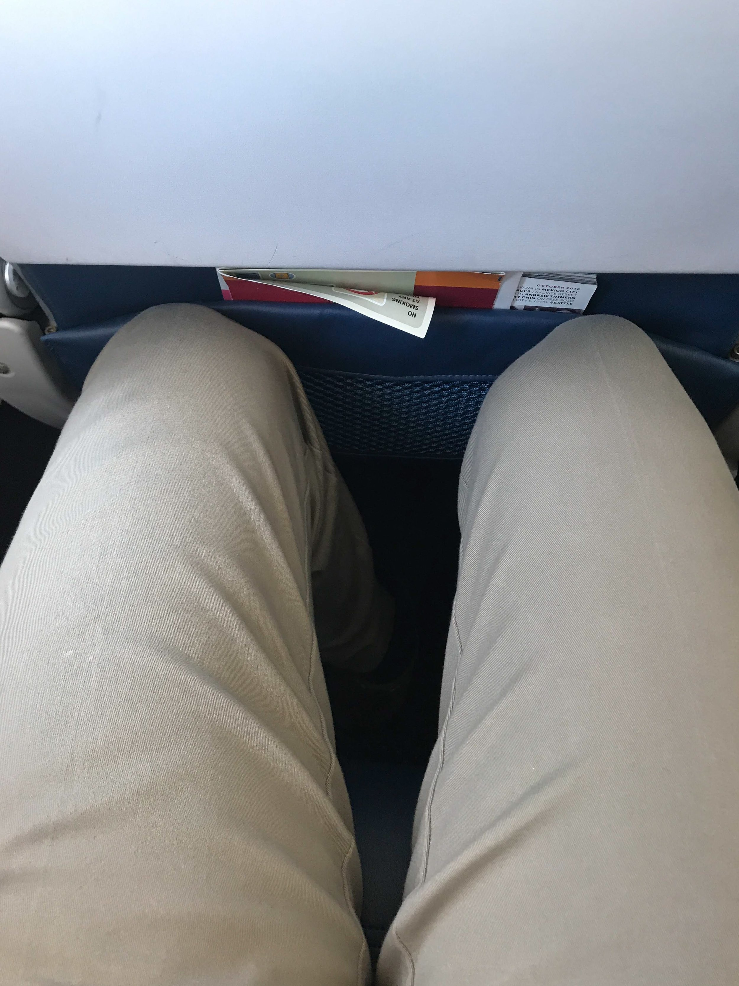 The legroom was tight, but no different than Delta's other aircraft types or economy seats on other legacy U.S carriers.