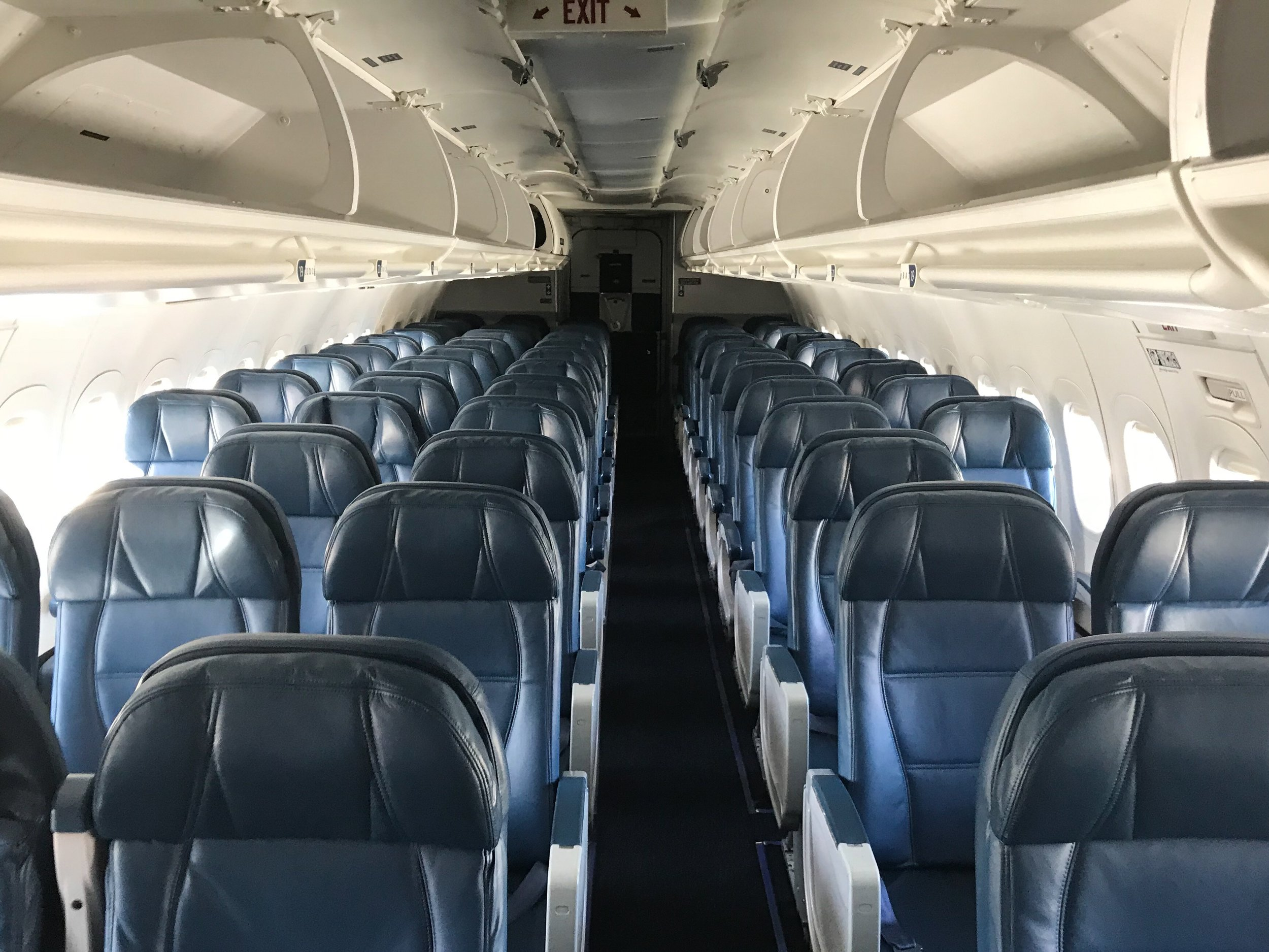 The Main Cabin on Delta's 717.