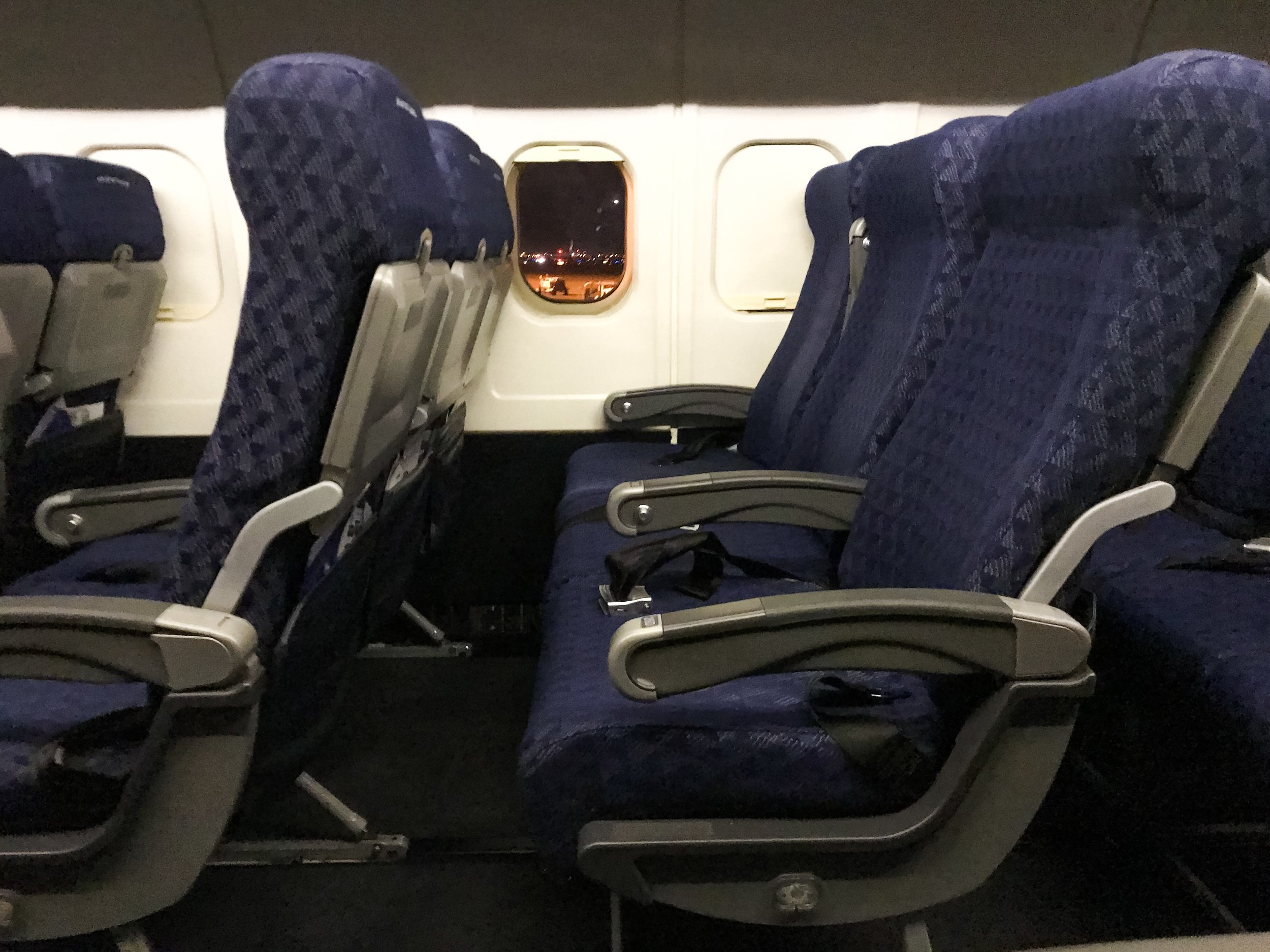 The seats were showing some wear and tear, but were still very comfortable. Most seats now are the relatively uncomfortable slimline seats.