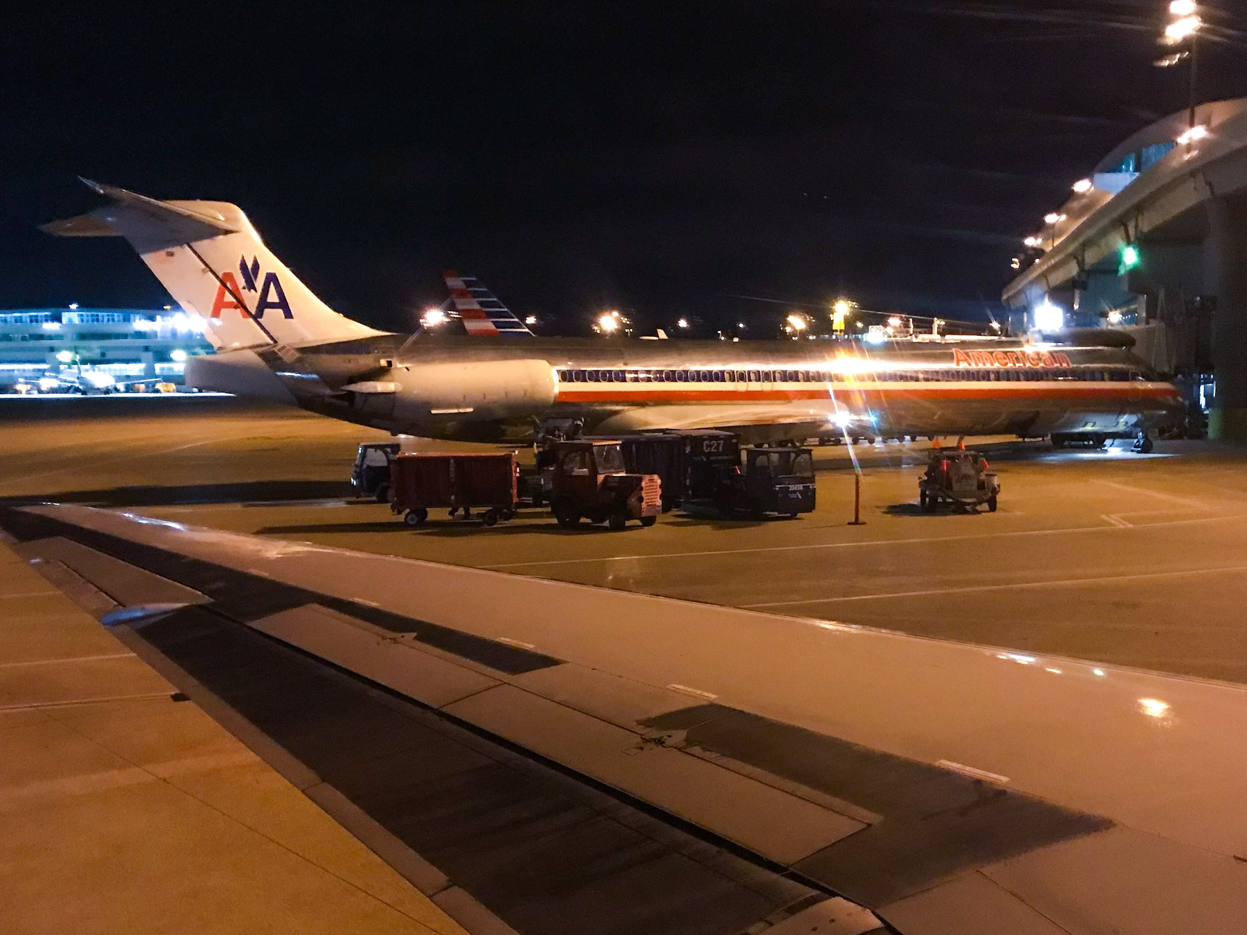 Pushing back from the gate in Dallas/Ft. Worth.