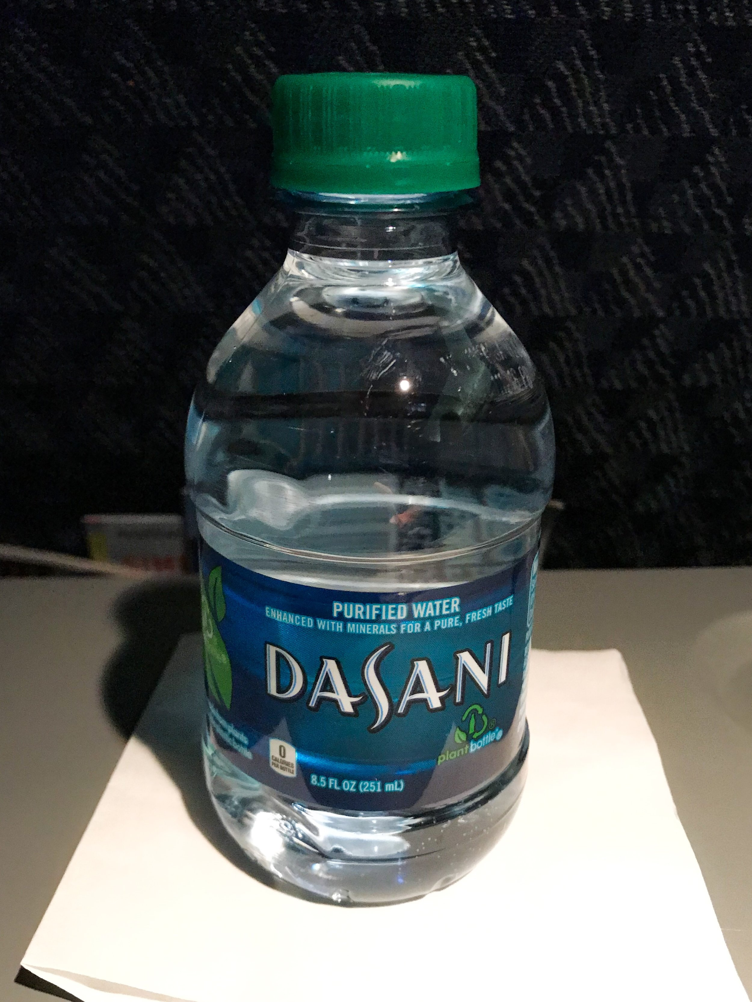 It was a short flight and drink service consisted of just water.