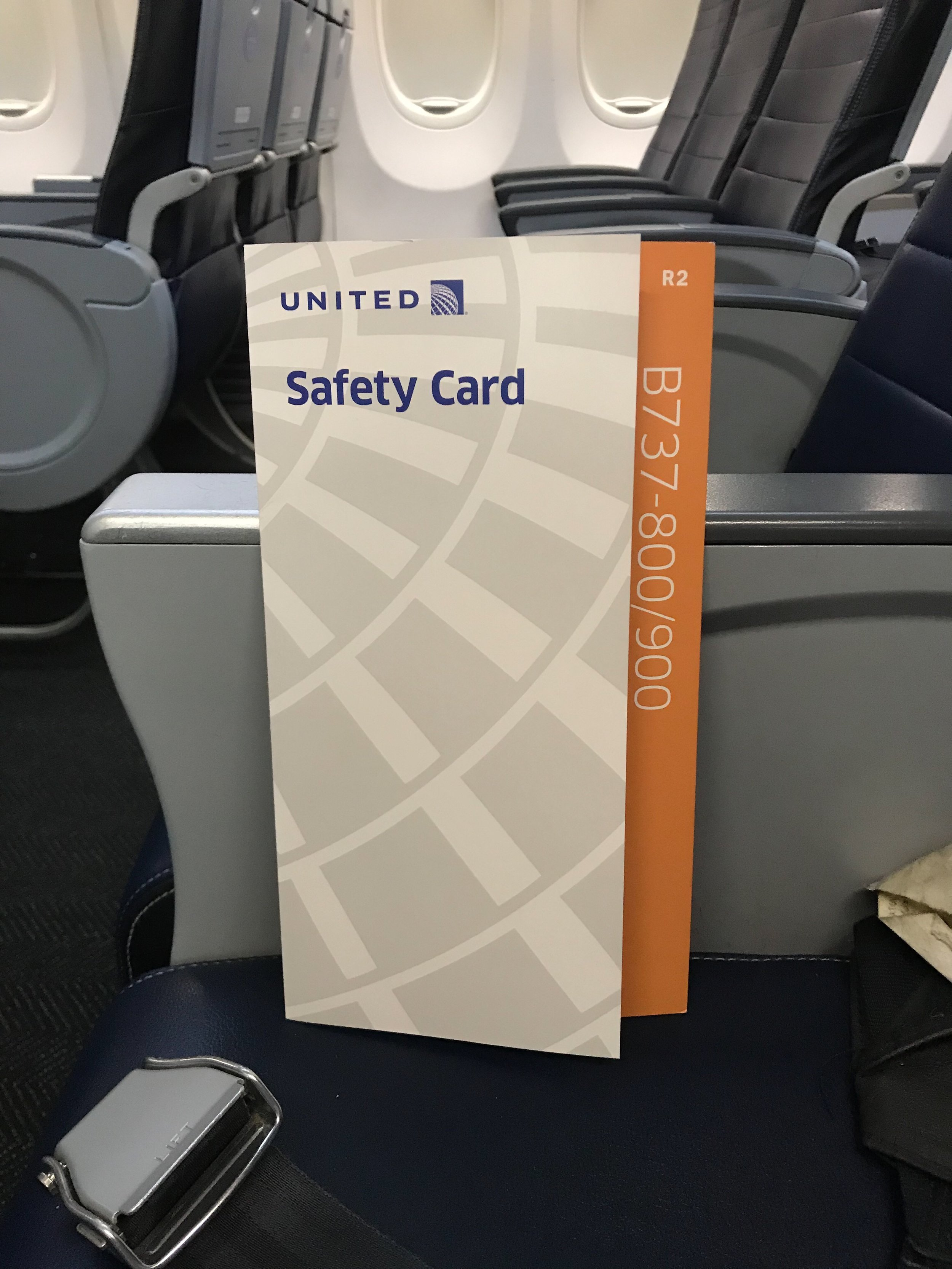 The safety card on the 737-900.