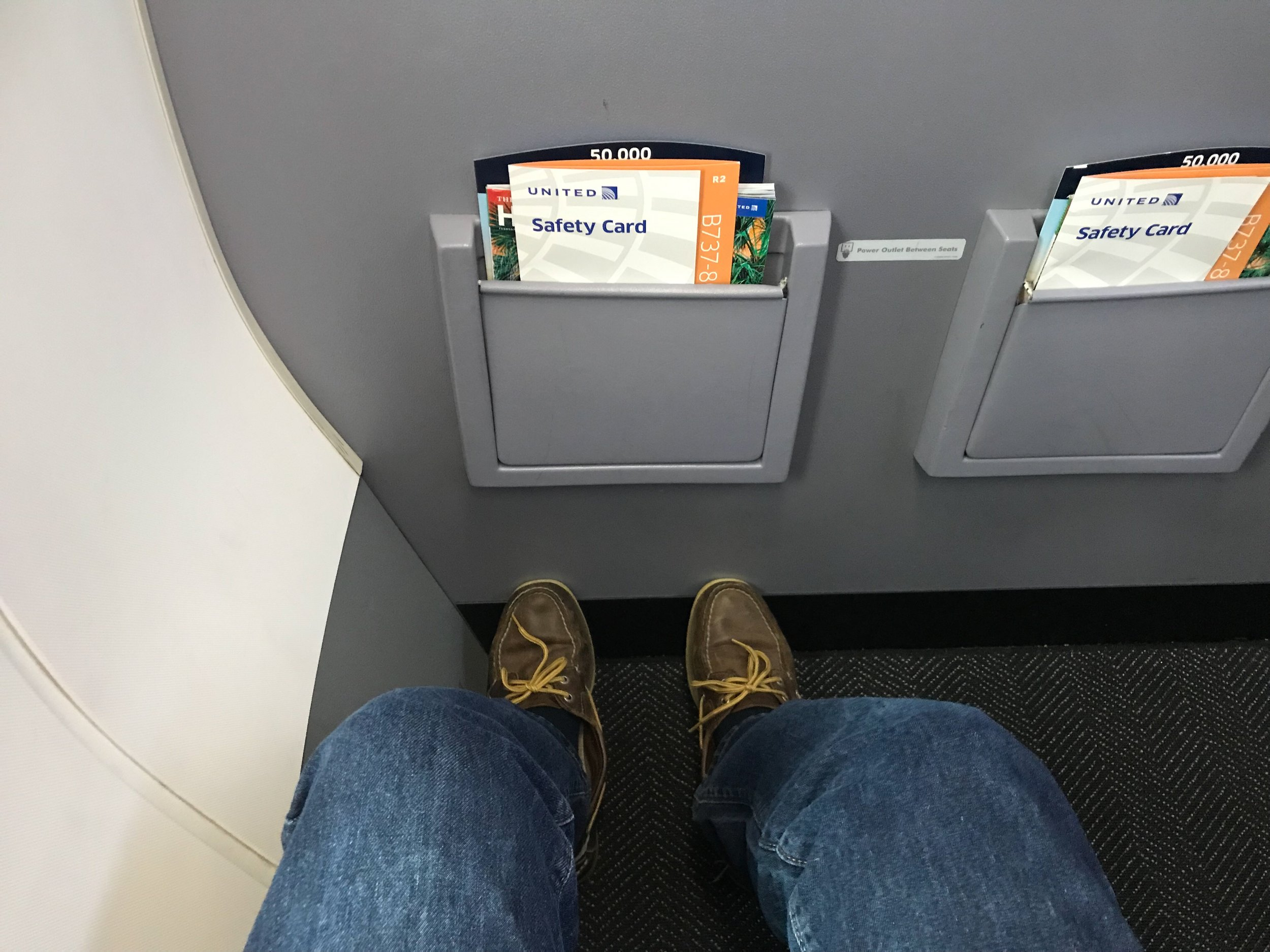 I couldn't stretch my legs as much as in other Economy Plus rows, but there was more space overall.