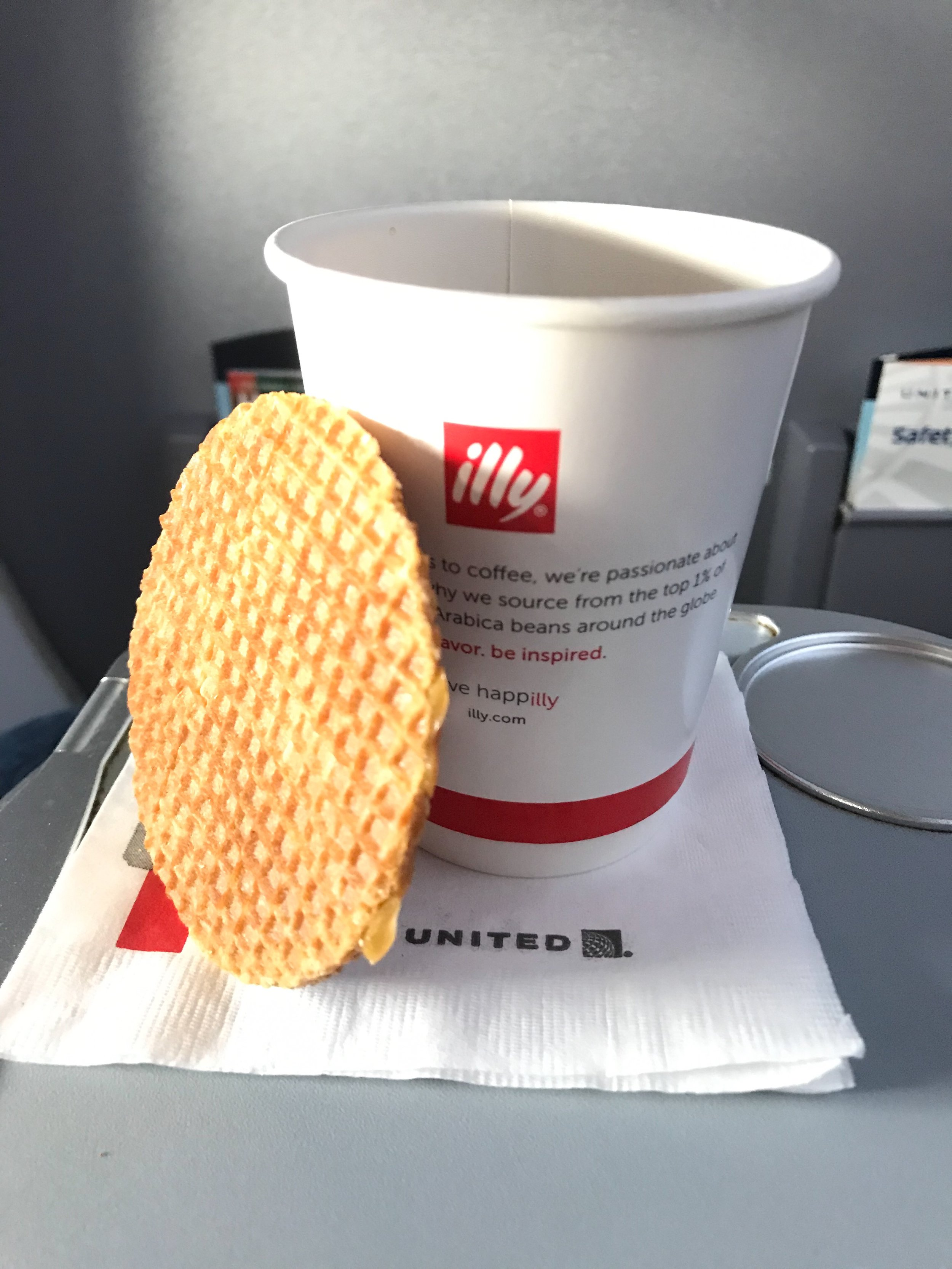 United serves illy coffee in all classes of service.