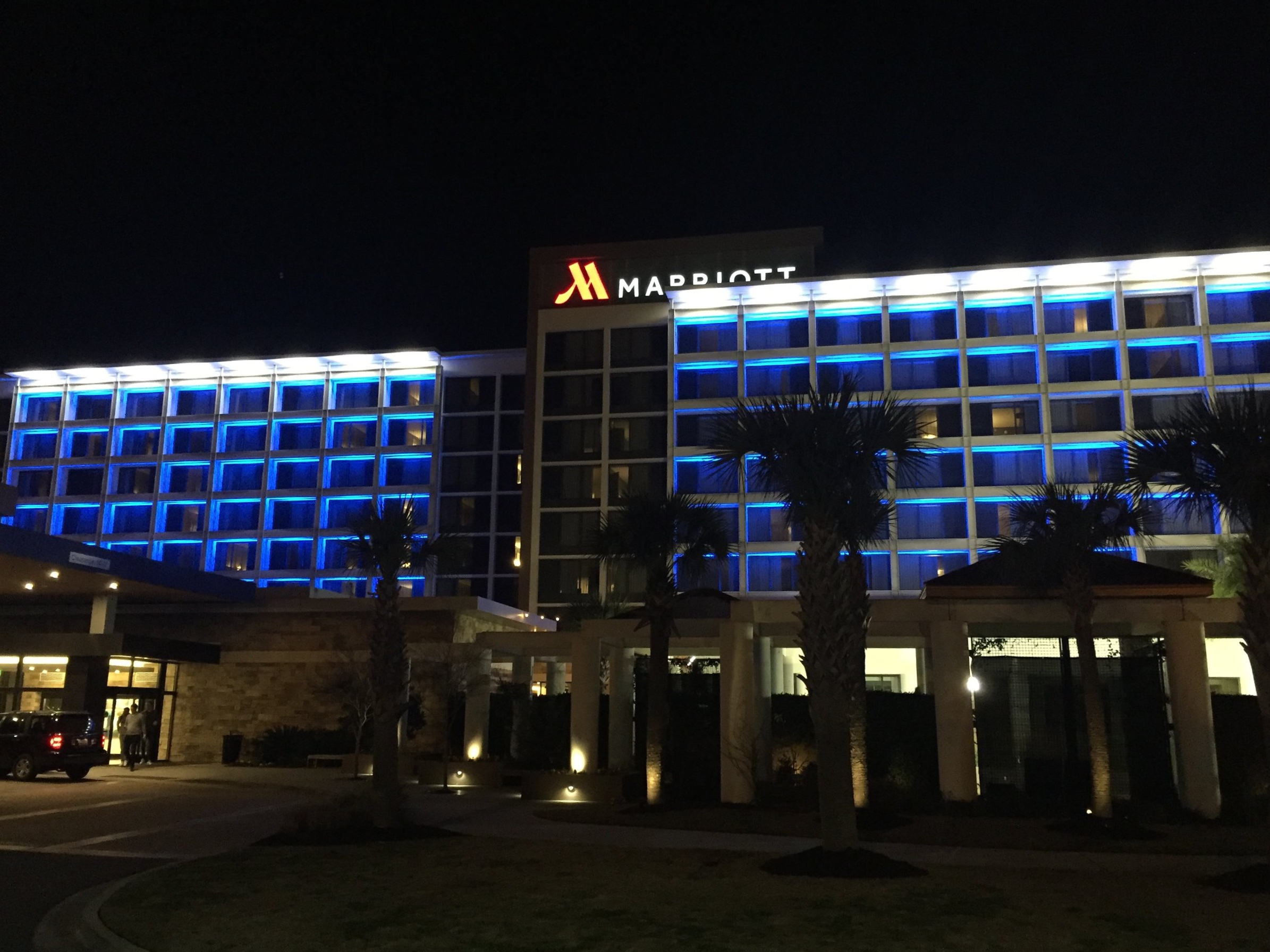 The recently renovated North Charleston Marriott.