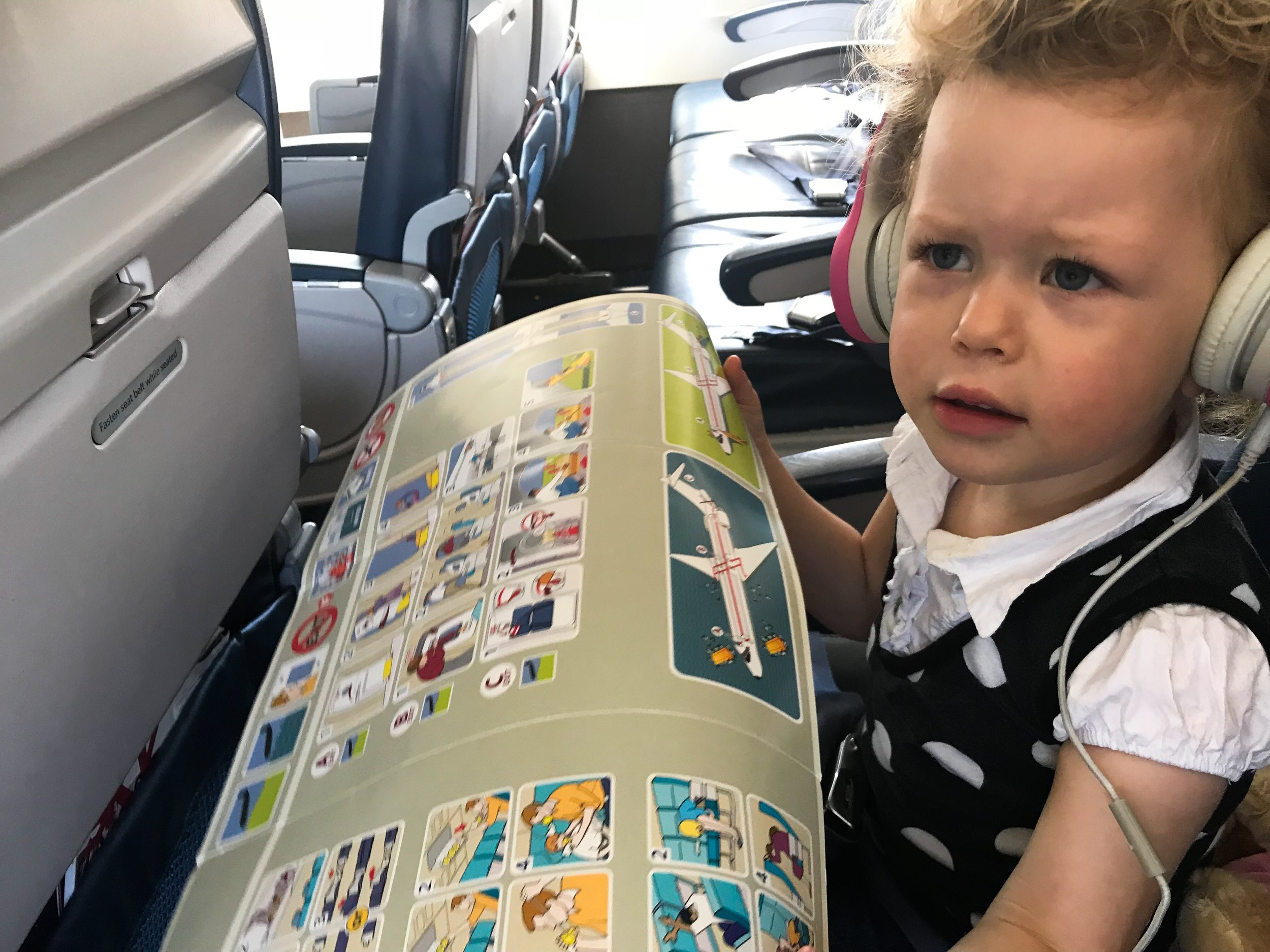 Flight safety - so easy a three-year-old can do it!