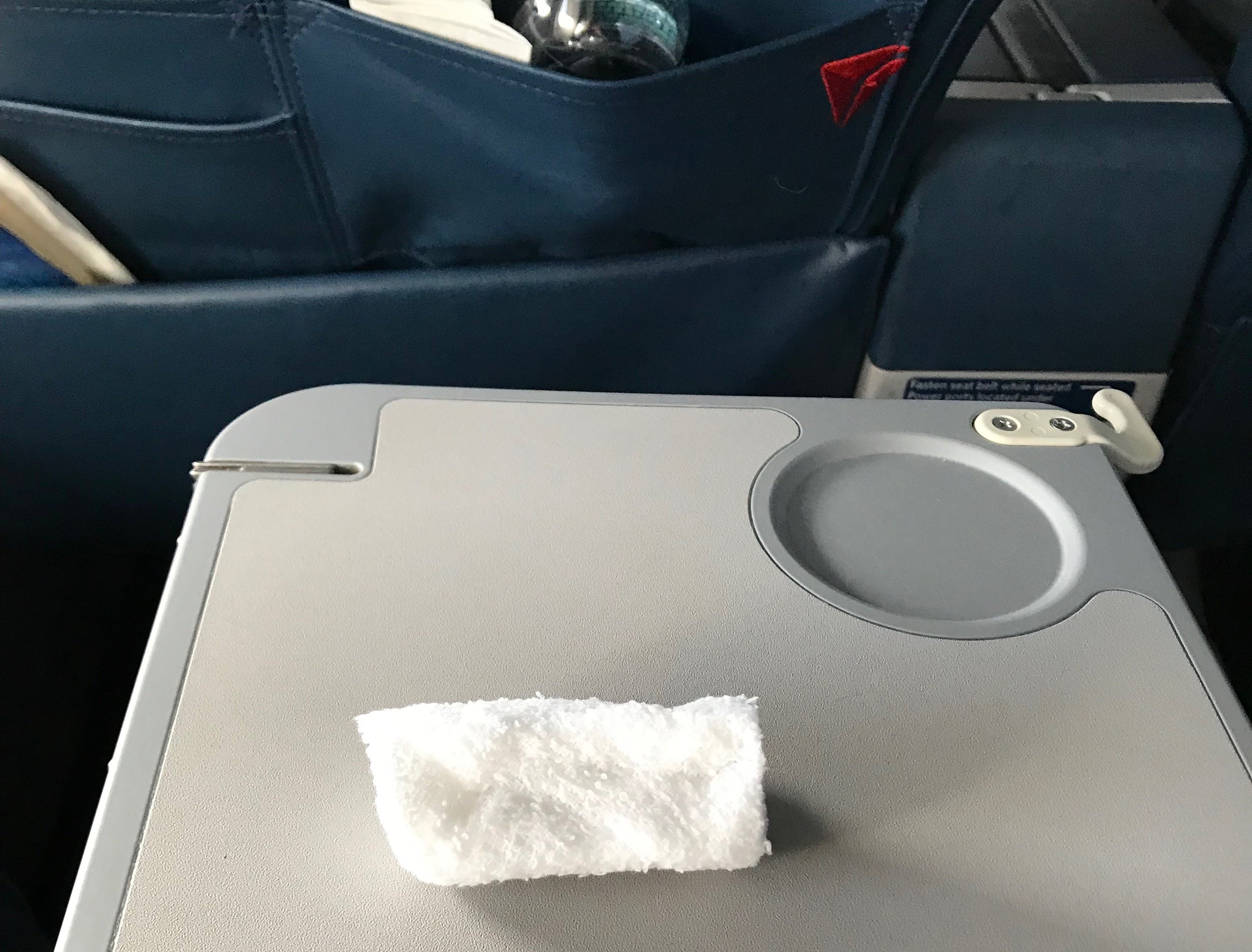 Hot towels are currently offered to Delta One, Premium Select, and Domestic First Class passengers.