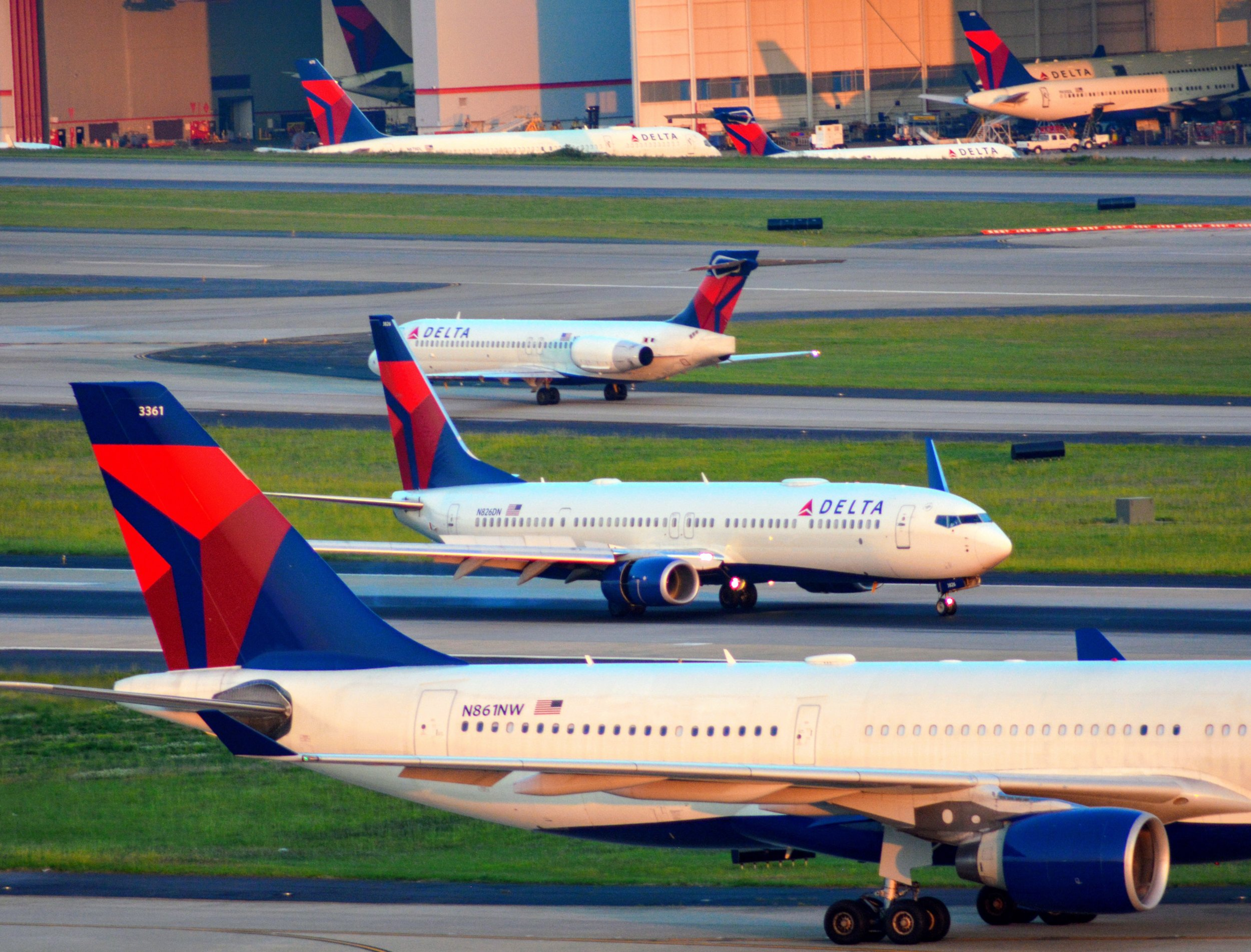 AIRCRAFT TYPE - Delta and its regional affiliates operate over a dozen different aircraft types.