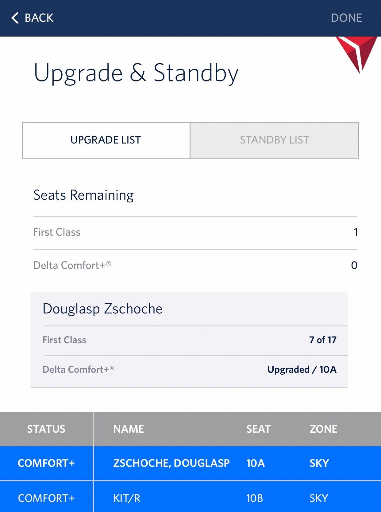 Delta Comfort+ / 717-200 / Los Angeles-San Francisco — Officer Wayfinder