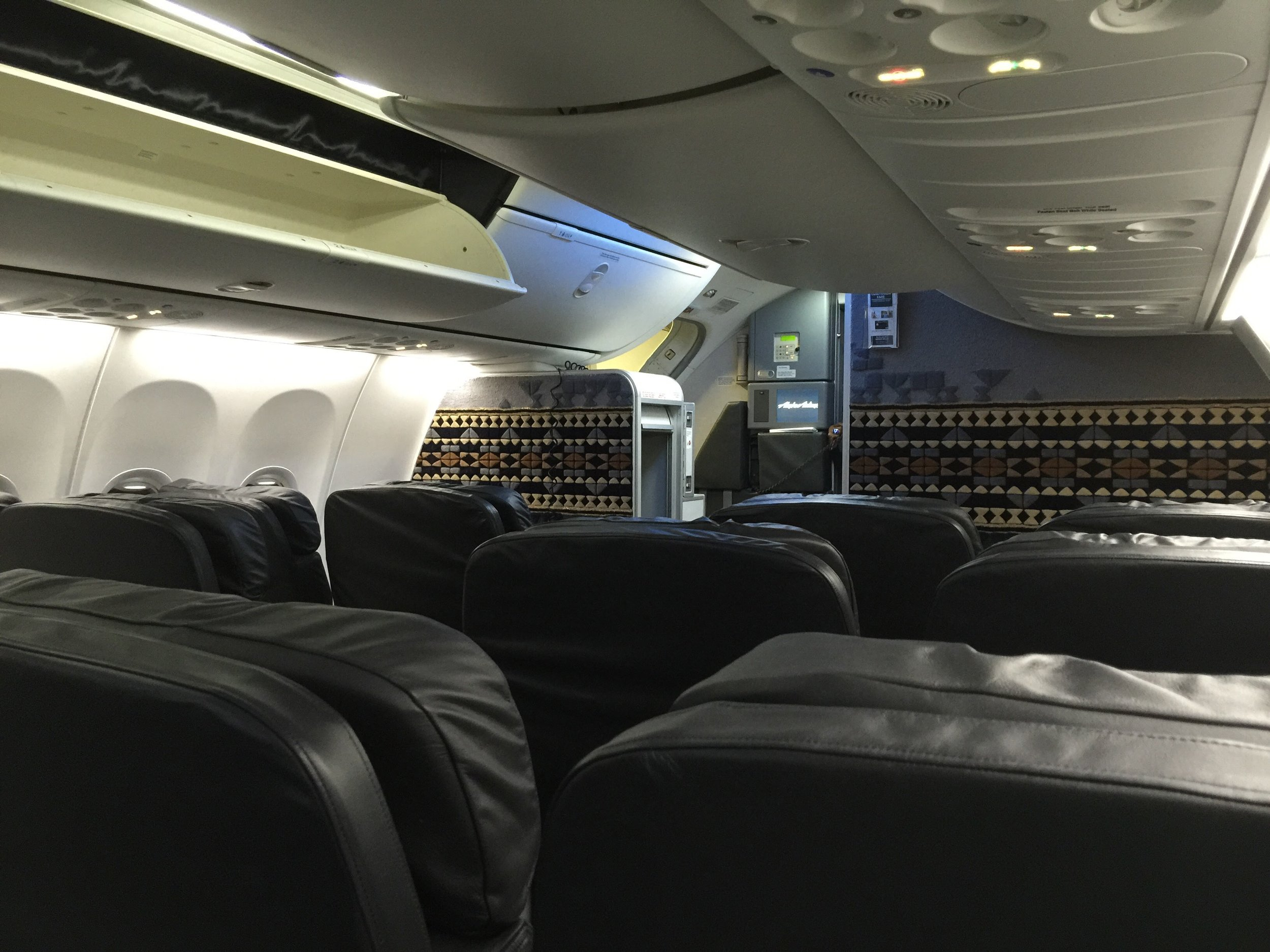 First Class on an Alaska Airlines 737-900
