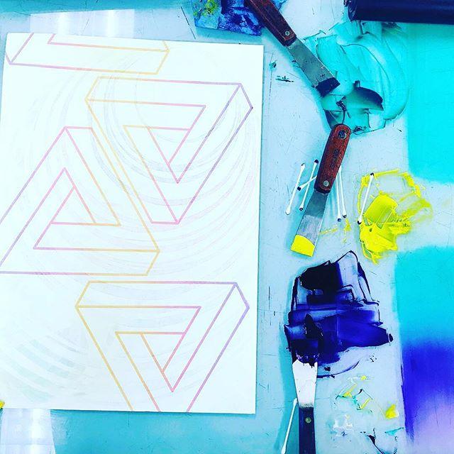 Collaborative #WIP . . . . #printmaking #prints #monotype #screenprint #printmaker #houston #tx #artist #artistofinstagram #uhcl #instaart #instart #inks #ink
