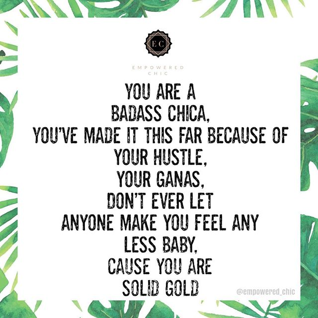 You Are Solid Gold Baby ♥️ Tag All Your Chicas Who Hustle On The Daily 🙌🏼 . . . . . . . #EmpoweredChicFashion #SolidGold#Hustle#WorkHard #ShopHarder#Fashionistas #BossBabe#latinaentrepreneurs  #WomensClothing#OnlineShopping #EmpoweringWomen #InspiringWomen #CreatingFashion