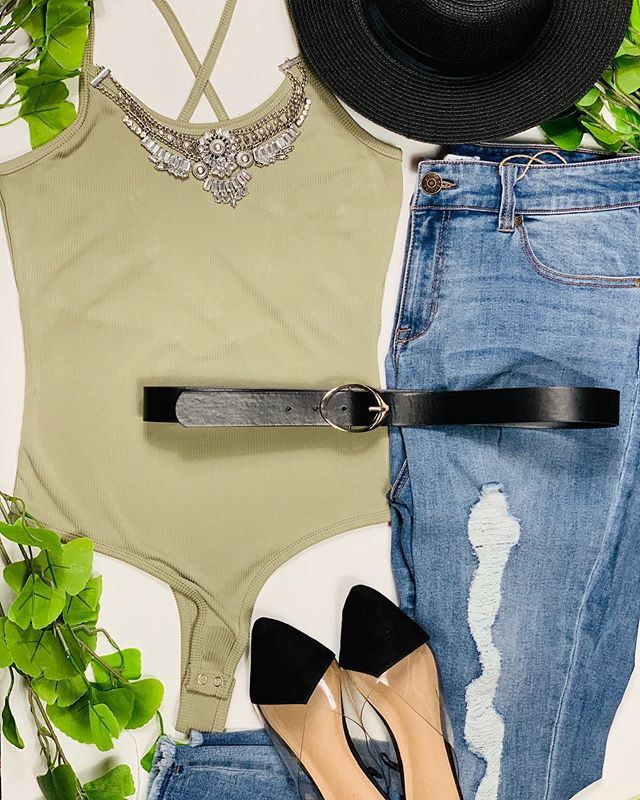 Accessorizing Basics Takes Your #OOTD To A Whole Other Level!  Our Minty Fresh Bodysuit And Curvaceous Plus Size Jeans Are The Perfect Summer Duo,  Now Tell Us, How Would You Style The Pair? Comment Below⬇️ . . . . . . #EmpoweredChicFashion #Bodysuit#Boho#Jeans#Denim #BornWithGoodJeans #OOTD#StyleInspo #Style#SummerStyle #SummerLooks#Fashionistas #FashionBloggers