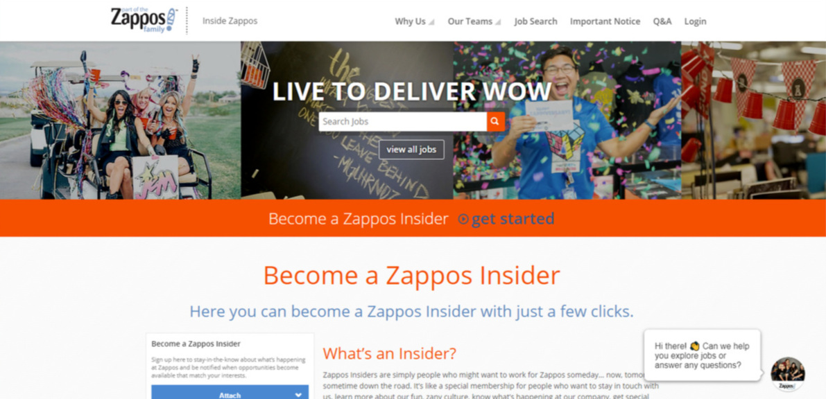 Zappos Insider    let the candidates keep in track with what's going on inside the company