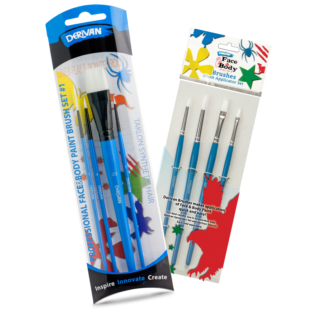 DERIVAN FACE PAINT BRUSH SETS
