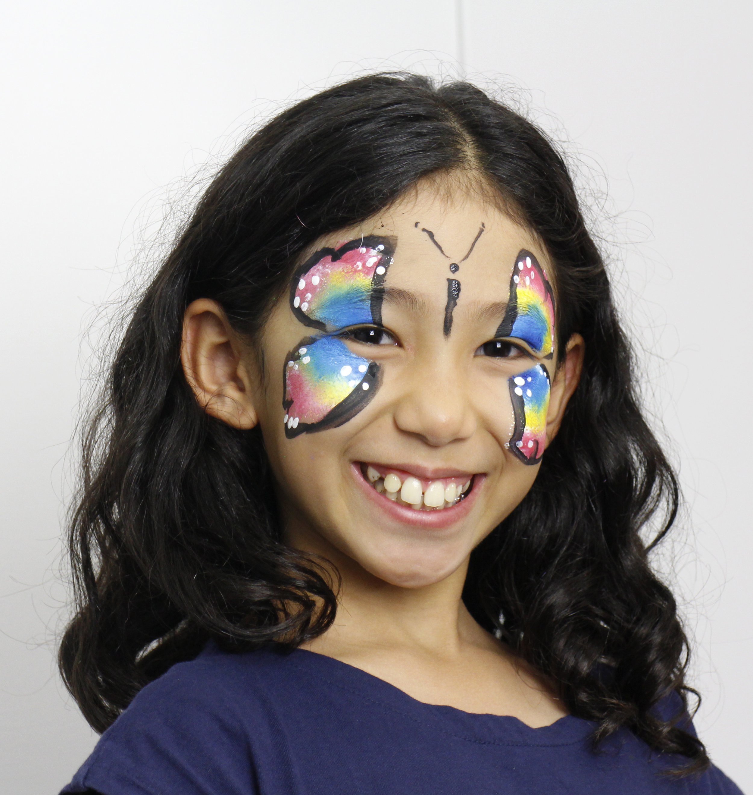 Easy Butterfly Face Paint