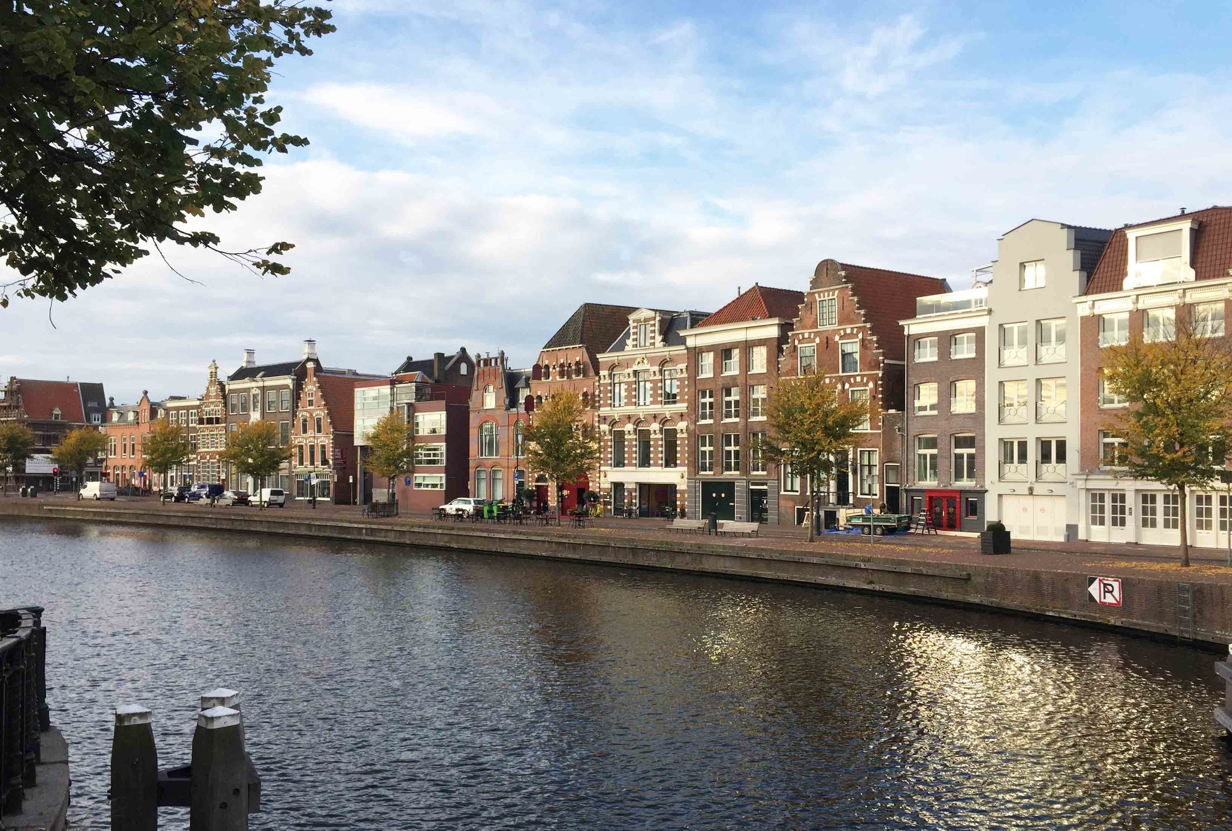 Haarlem - On a nice summerday at the river Spaarne.