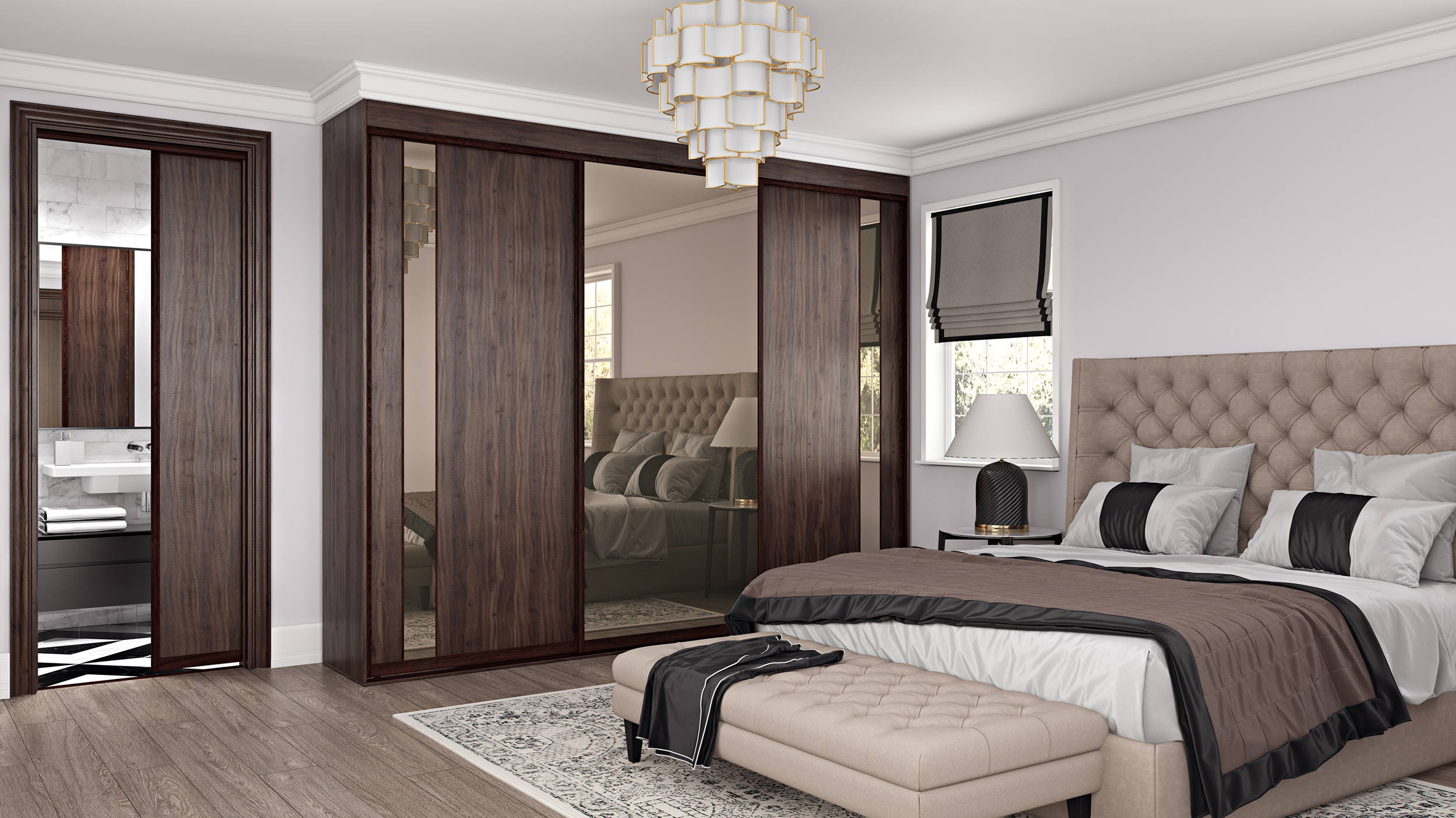 Both Simplicity and Tresana offer doors and components for use as room partitioning or pocket doors.