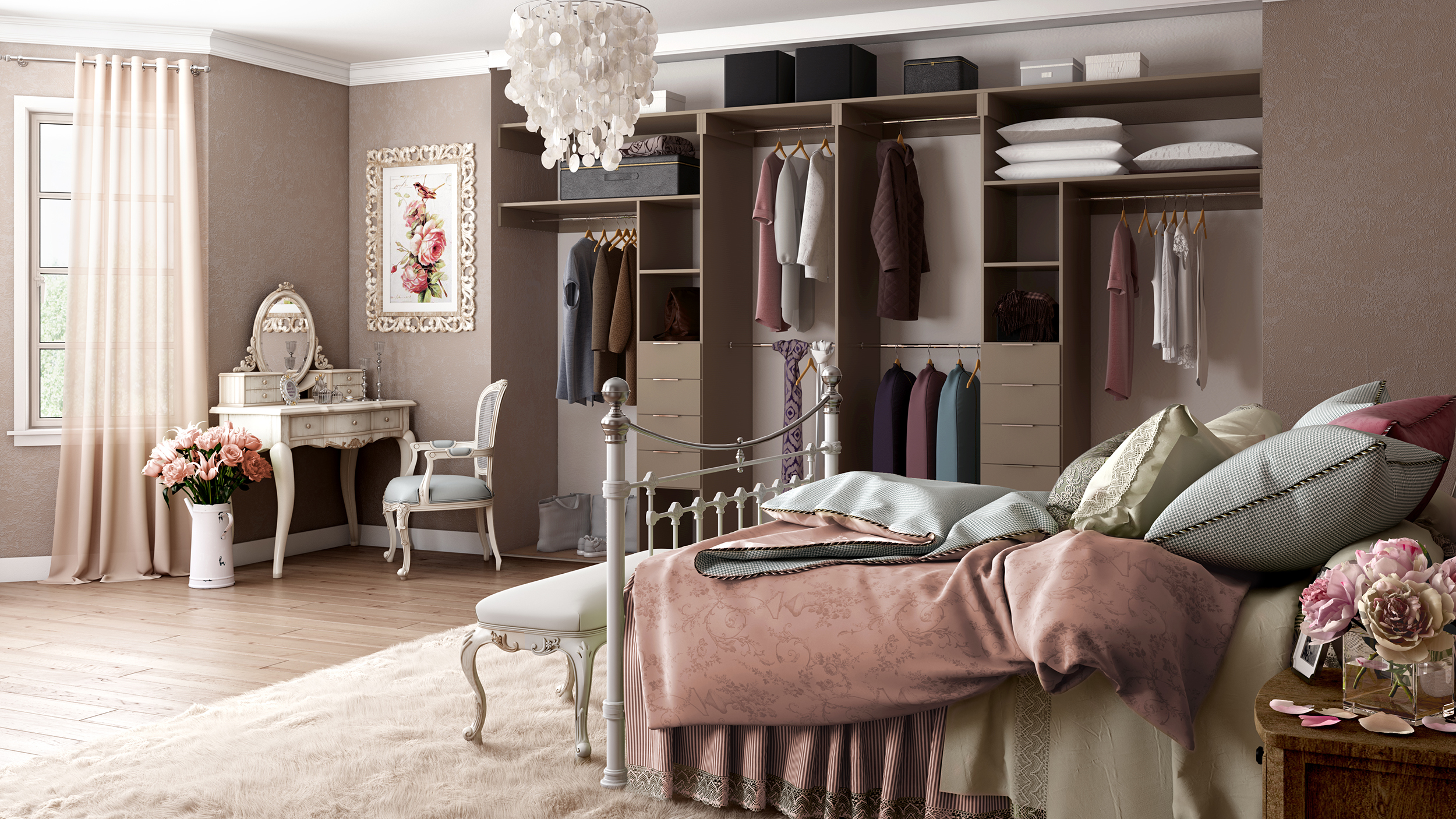 With colour co-ordinating internal storage too, your customers really can have a bedroom of their dreams!