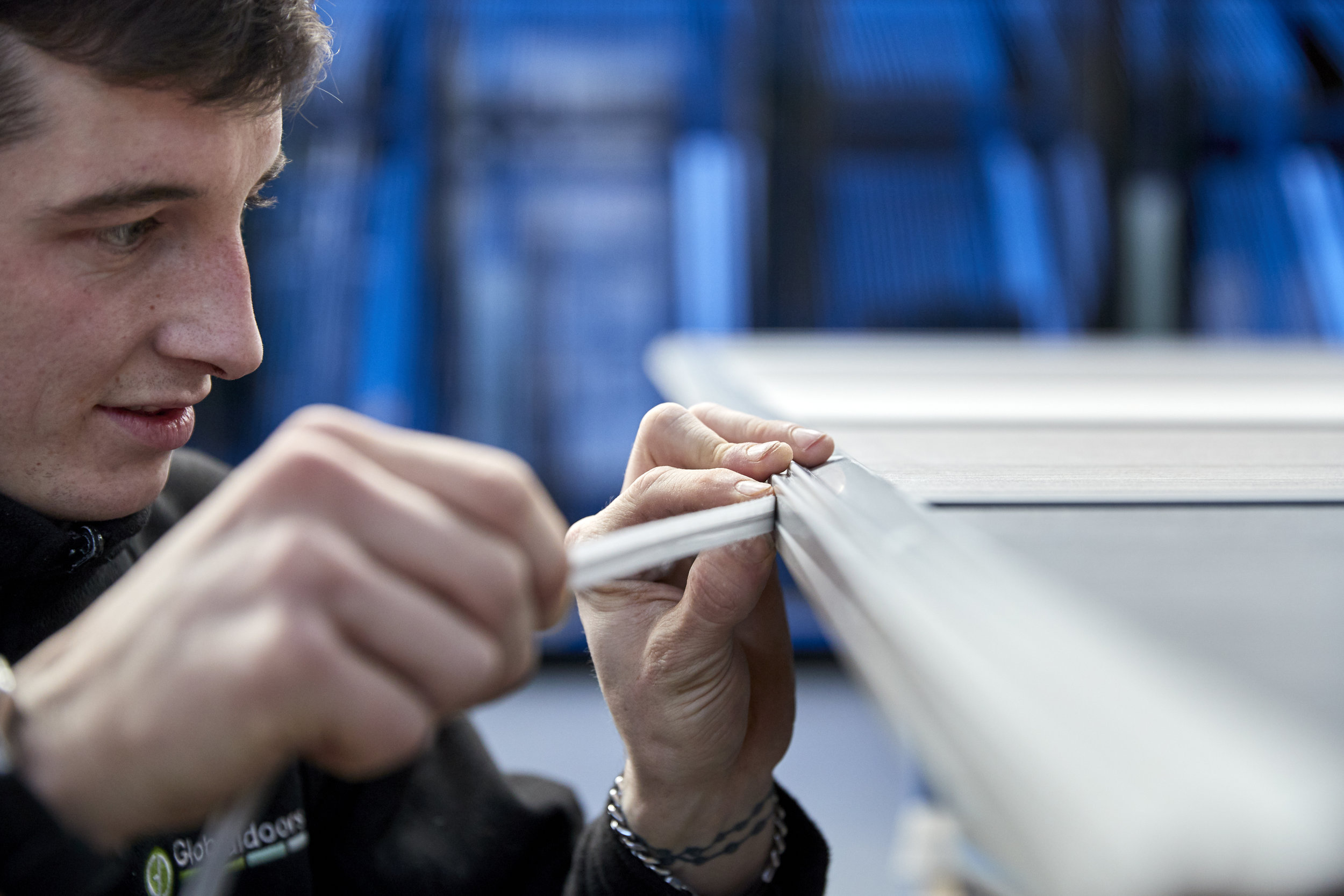 Along with automated technology, hand finishing is just one of the many processes that each door undertakes.