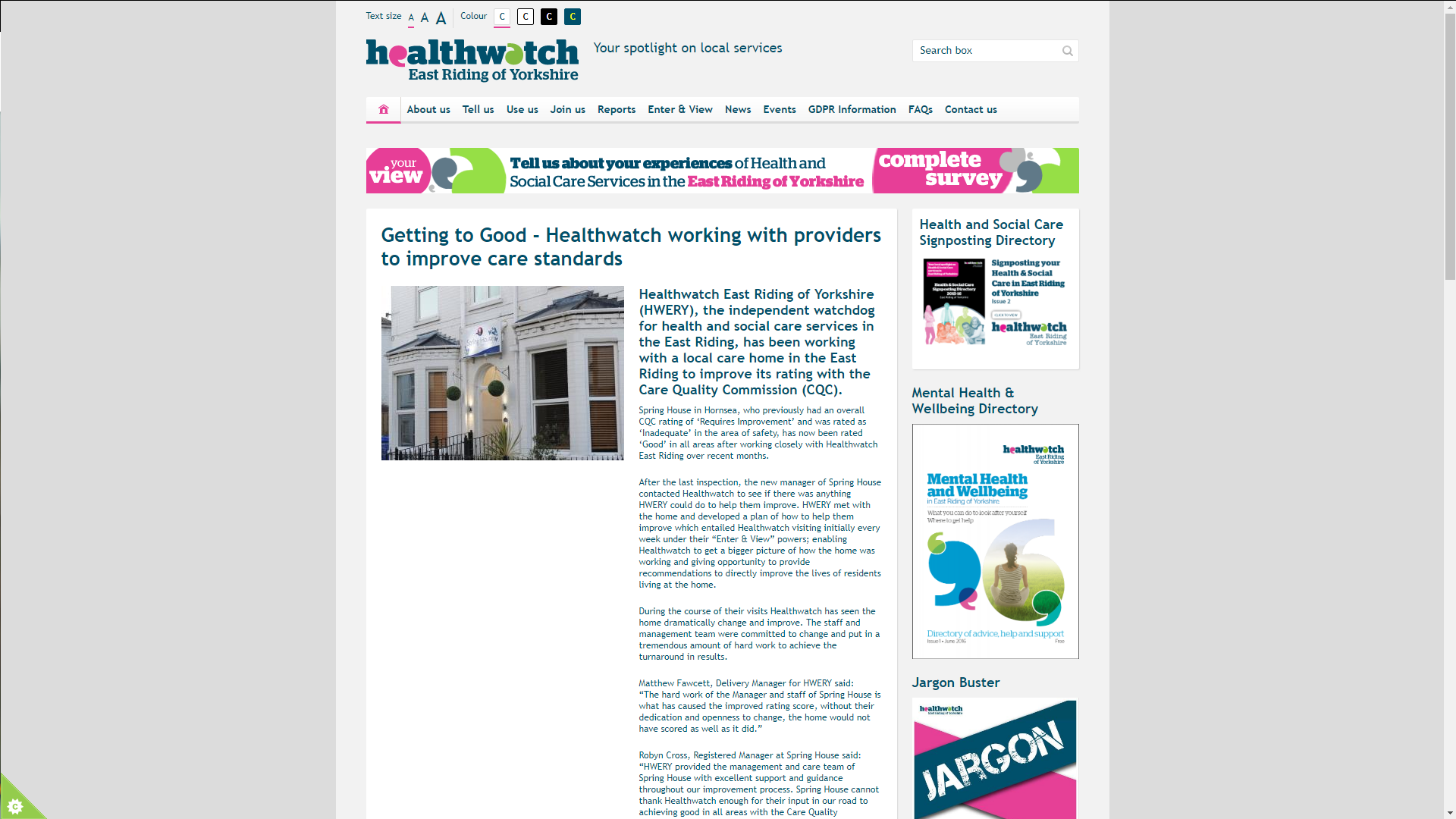 Healthwatch East Riding