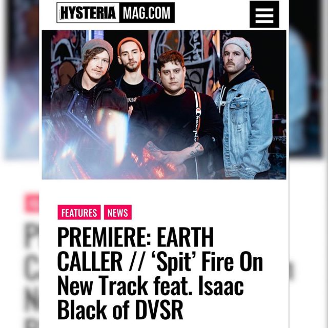 """Crushing, urgent, and savage, this hears Earth Caller penetrate the realms of grime rap with blistering metal. Issac Black of DVSR's whip-smart tongue lays down one of the most explosive verses you'll hear this year. Think of it as an Aussie answer to Body Count, Rage Against the Machine, or Stray From The Path."" . Thank you @hysteriamag for premiering @earthcaller's killer new single and video ahead of its official release today! Head on over to the boys official @youtube channel to check out the new clip!"
