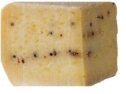Pecorino Pepato - This Pepper Pecorino is a fine Australian take on the classic Sicillian cheese and is made from cow's milk. It is a hard, flavoursome cheese with a delicious piquant flavour complimented by the peppercorns throughout.Very good for grating on pasta, a salad or eating on a cracker.$5.80 per 100g