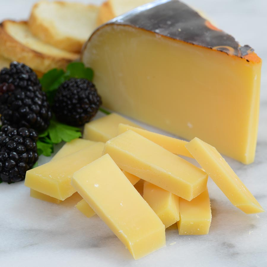 Aged Dutch Gouda - An aged Dutch Gouda made from the fresh milk of Friesian cows and naturally ripened. A hard cheese, with a rich, mature, smooth, nutty flavour, aged for around ten months.$7.40 per 100g