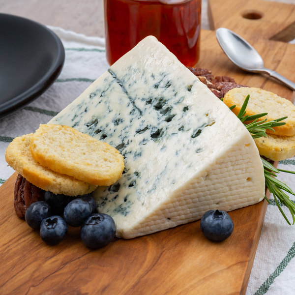 Danish Blue - Danish Blue is a semi-soft blue veined cheese, made from cow's milk.An authentic product of Denmark, it has a creamy and crumbly texture with a sharp and salty taste.$5.60 per 100g (100g min)