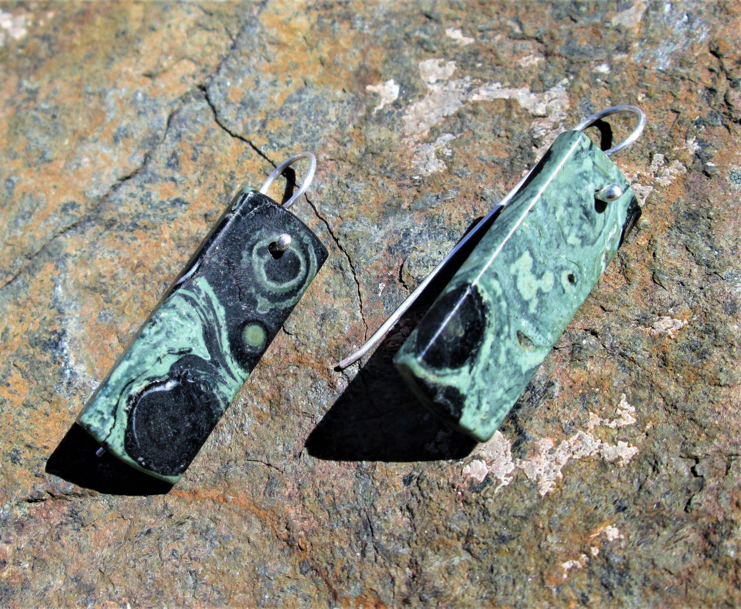 Galaxy Jasper and Sterling Silver Earrings.JPG