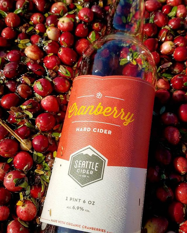 Things We Love: A great month to thank those that source local, like @seattleciderco with their dry Cranberry Cider! While they were making this year's batch, we were drinking these beauties in the bog. #bogsocial #sourcelocal #cranberrycider #pnwonderland #notyourstandardcider