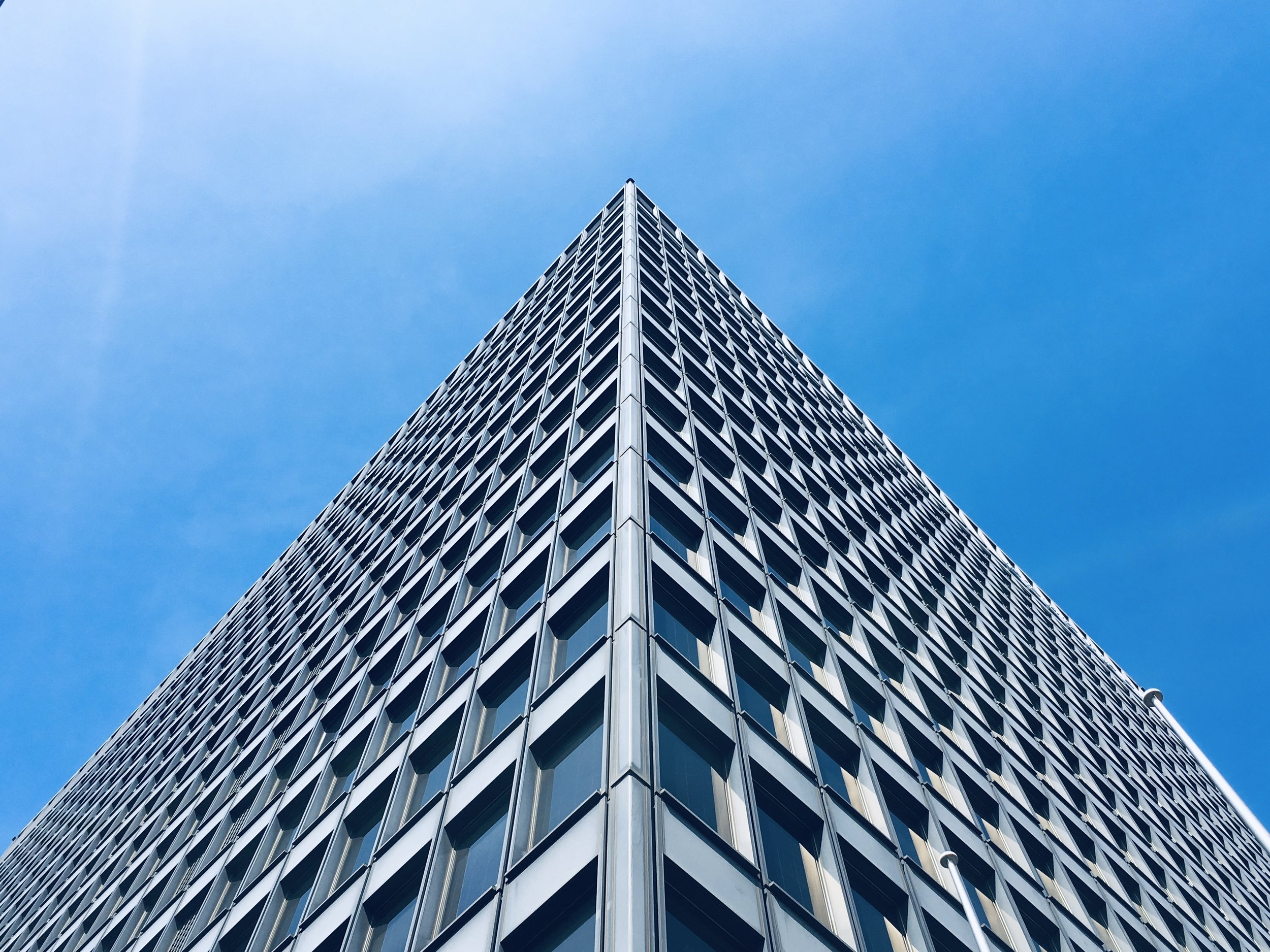 Solar window on a high rise building, Generate  free electricity ,  allow light to pass through , reduce  harmful ultra violet rays . (Photo credit: Scott Webb)