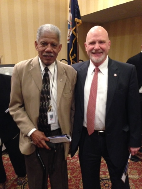 Wayne with supporter, Henry Leander Marsh III, an American civil rights lawyer and politician. A Democrat, in 1977 Marsh was elected by the city council as the first African-American mayor of Richmond.