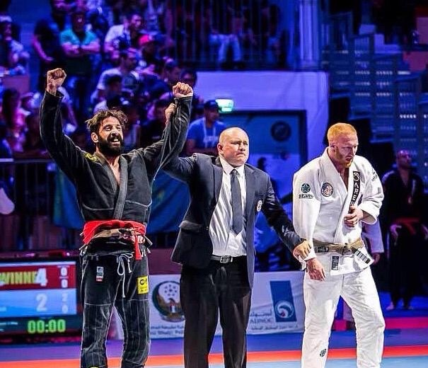 Mario Bazouri - From Team Nogueria DubaiIBJJF Europeans Brown Champion (2016 Brown)Abu Dhabi World Pro Champion (2015 Brown)Abu Dhabi World Pro Champion (2013 Purple)