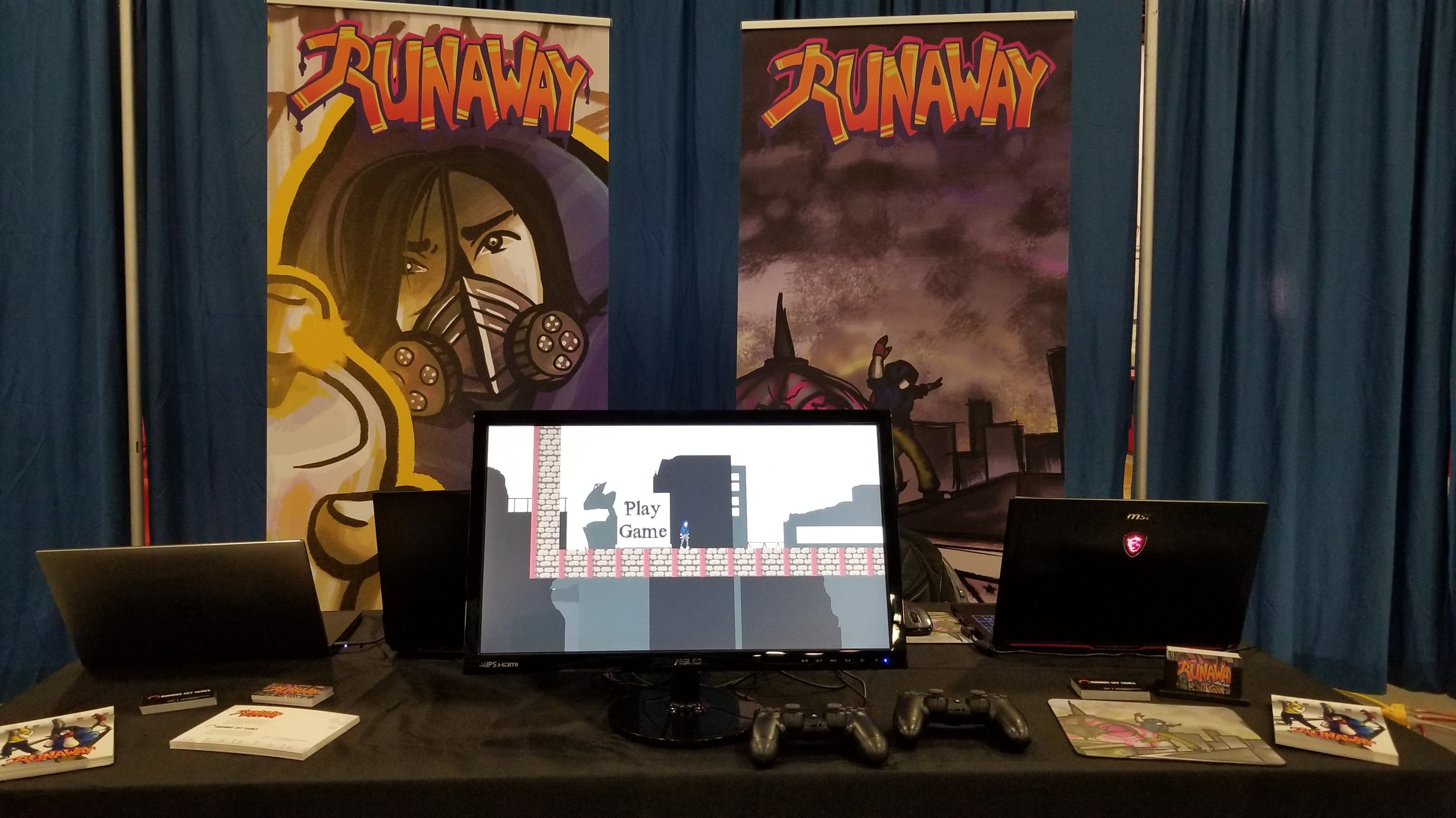 Our booth setup at BostonFIG 2018