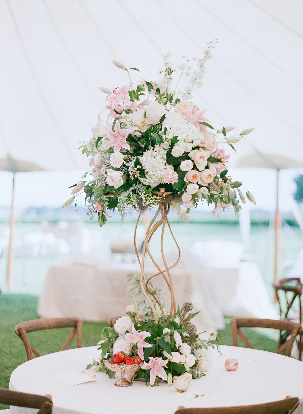 North Carolina Wedding, Events by Reagan, Destination Wedding Planner,  Elegant Flower Centerpiece