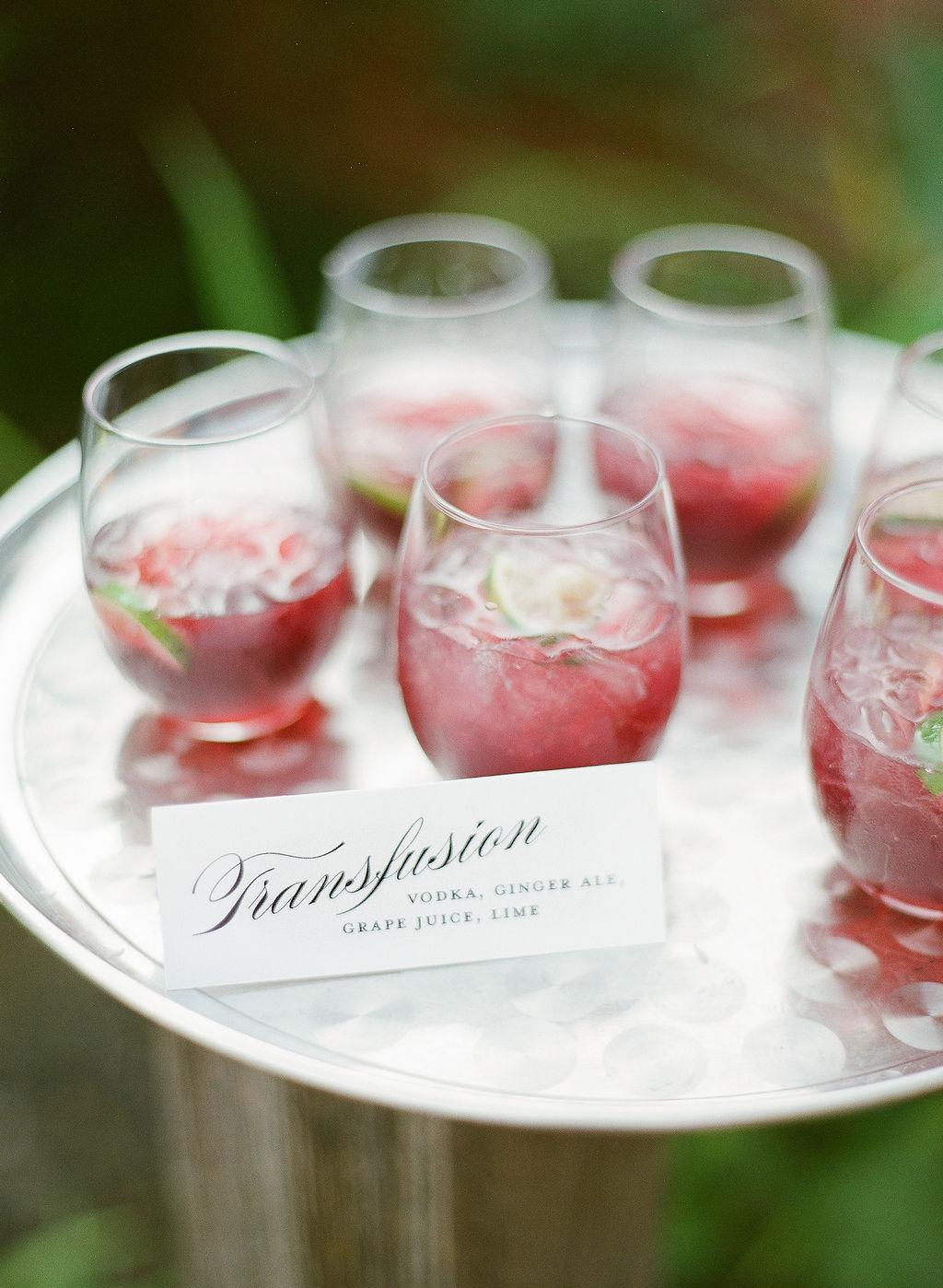 North Carolina Wedding, Events by Reagan, Destination Wedding Planner, cocktail hour, specialty drink