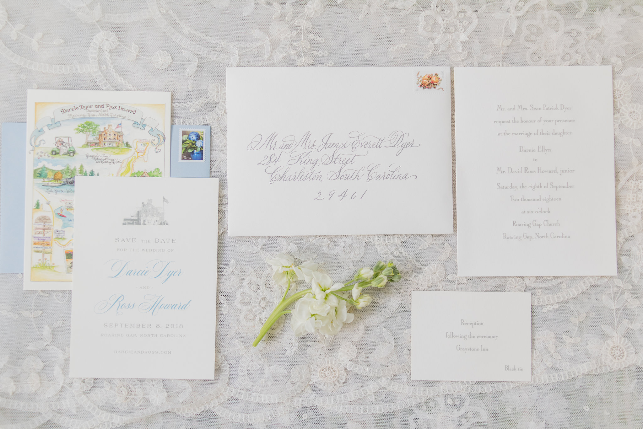 North Carolina Wedding, Events by Reagan, Destination Wedding Planner, Wedding Invitations, Save the dates