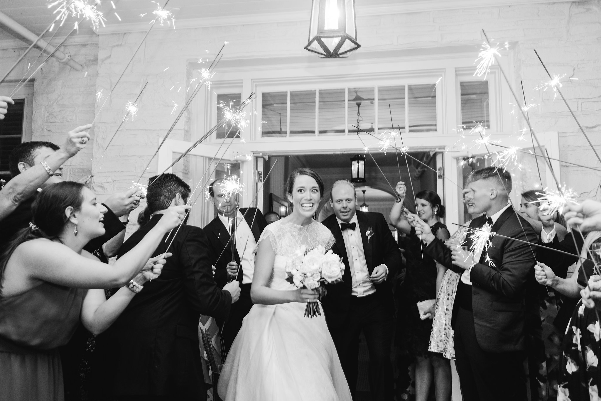 North Carolina Wedding, Events by Reagan, Destination Wedding Planner, Bride and Groom, Sparklers
