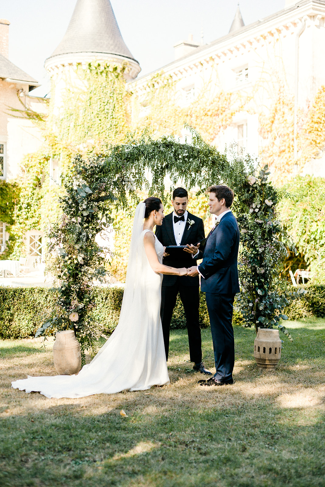 French Chateau Wedding, Events by Reagan, France Wedding, Destination Wedding Planner,Bride and Groom, Vow Renewal, Flower arch