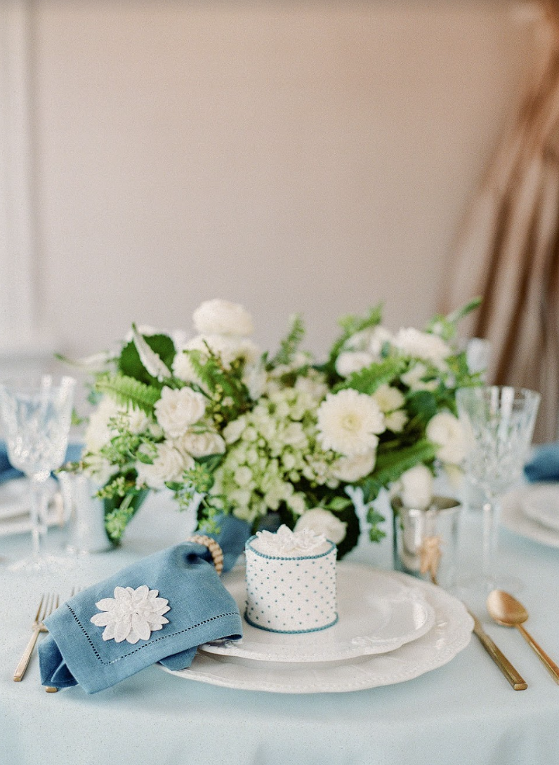 Events by Reagan, Lela Rose Collaboration, Table Setting, Place Setting, Floral Centerpiece, Personal Cake, Bridal Luncheon