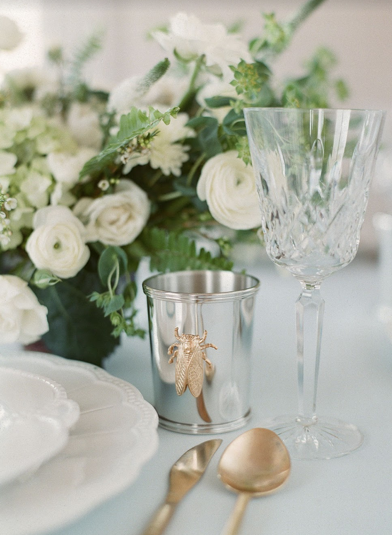 Events by Reagan, Lela Rose Collaboration, Table Setting, Julep Cup, Goldbug, Bridal Luncheon