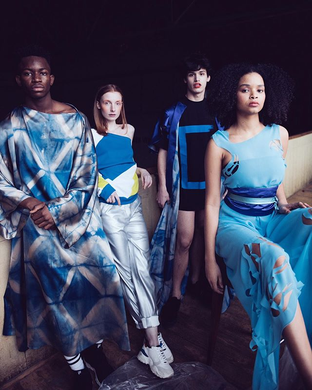 #throwback to Skamløsshow!! We can't believe it has already been a month since the show 💙 . . . Photo by: @simone.koerner  Designers: @halm.fashion @lukaslazel @aylinsophiasari @paulahawildner @vergo_tailoring.design  Hair and Make-Up by: @sarah.bzoch @yuna.puh.stylist  Models: @obaskay_ @mirjamsadovnik @malinagneni @keyxhan