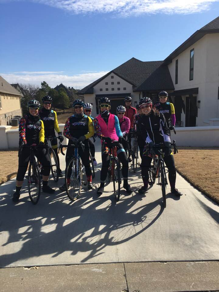 Cold training ride… and Tricia's birthday!
