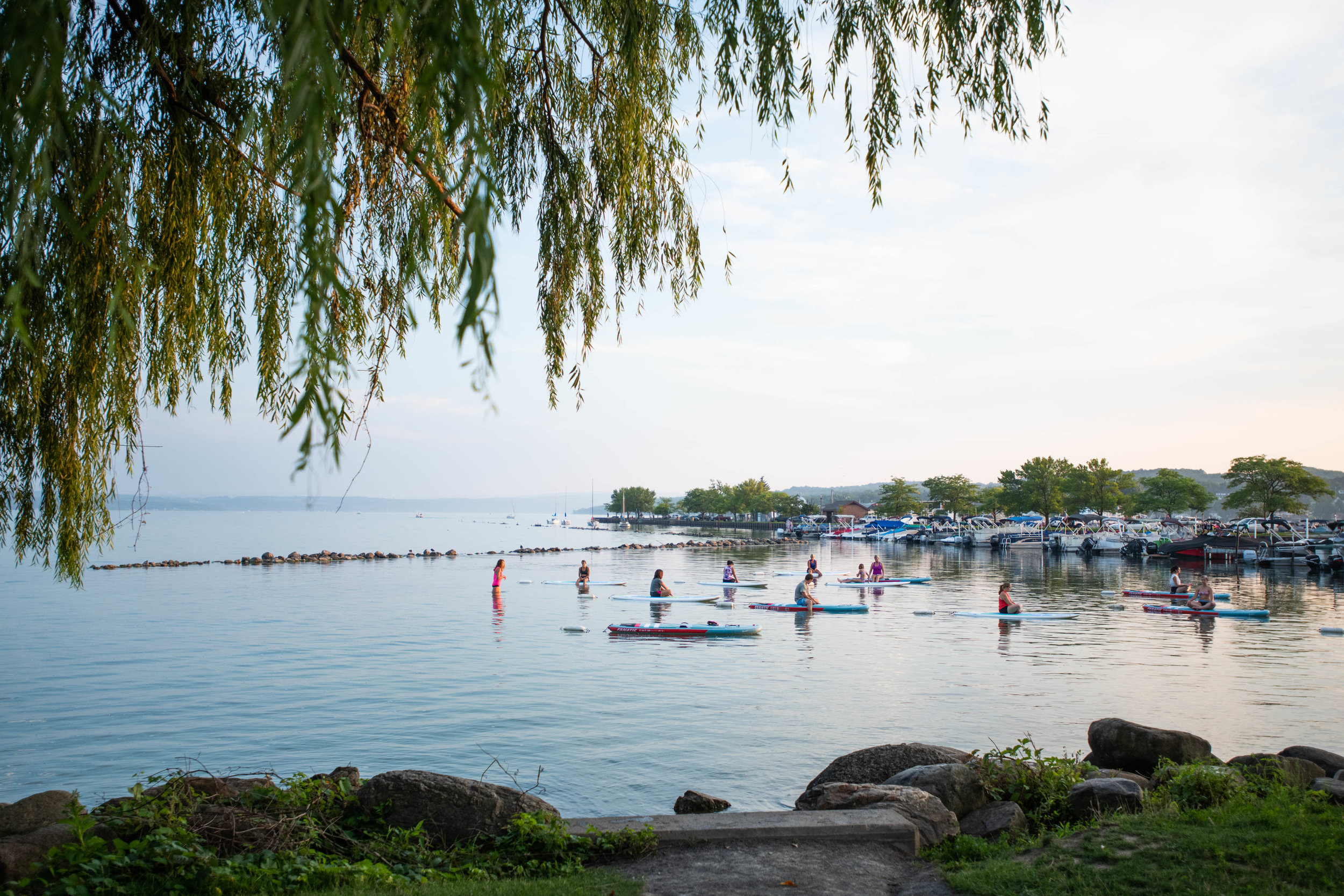 water_yoga_on_canandaigua_lake
