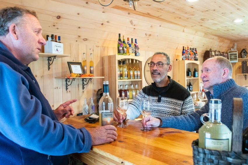 Herb Raymor of Raymor Estate Cellars speaks during a wine tasting. Photo: Visit Finger Lakes