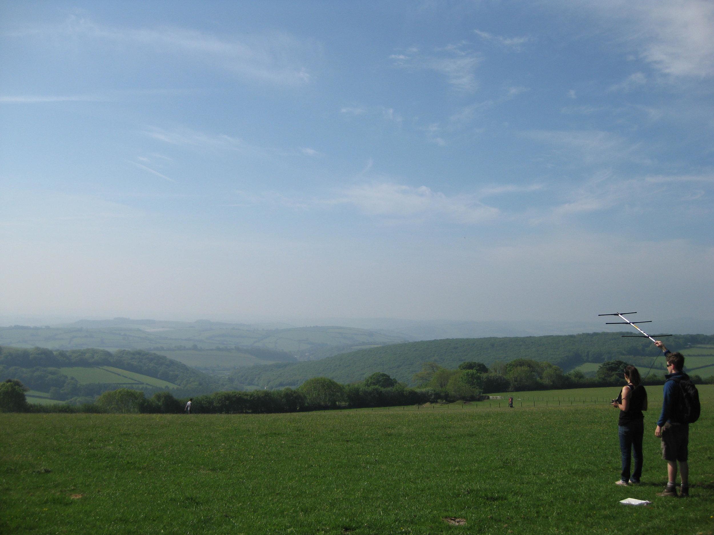 Radio-tracking in Devon (photo by Matt Cook)
