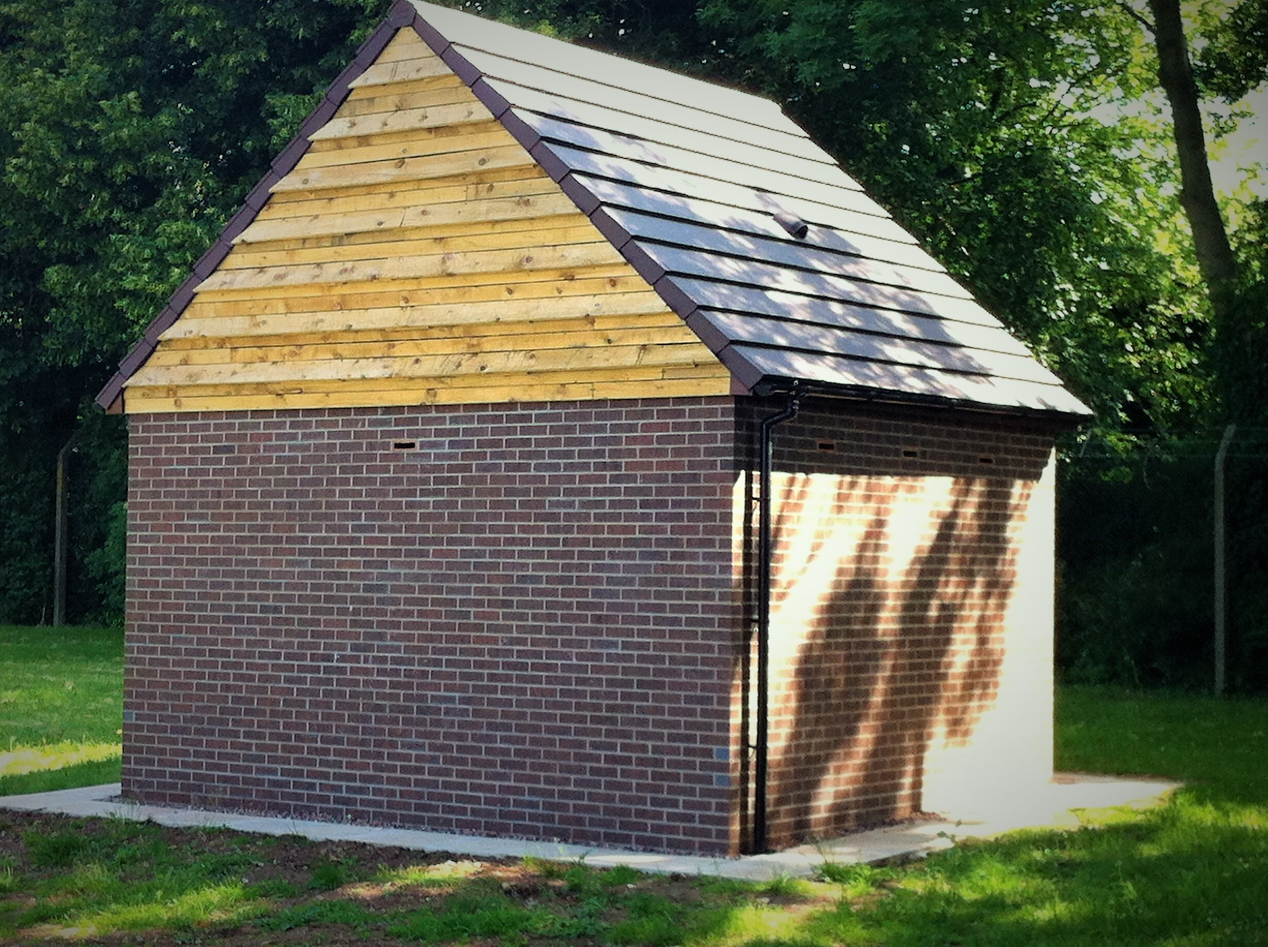 A bespoke bat house created as compensation for the loss of a bat maternity roost (photo: Matt Cook)