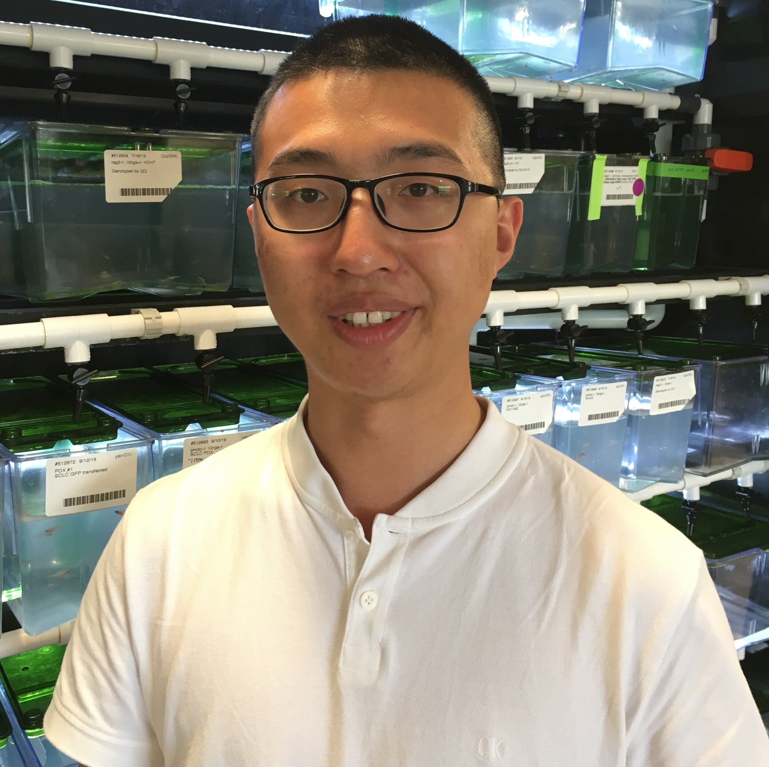Qian (Alvin) Qin   Alvin is from Shanghai, China, and he graduated from Tongji University in 2017 with a Ph.D. in Bioinformatics, especially for epigenomics study. He is now a postdoc research fellow co-mentored by Professor David Langenau and Professor Luca Pinello. Before he joined the lab, he was an assistant researcher at Children's Hospital of Fudan University, where he integrated multi-modal MRI datasets for neonatal encephalopathy diagnosis with deep learning. His current interest lies in single-cell data integration across species and samples to construct the gene regulatory network and detect functional cis-elements underlying the mechanisms of oncogenesis and development, and potentially single cell microscopy images analysis for quantifying cell phenotype. Outside of lab, Alvin enjoys reading, swimming, and working out with his colleagues.